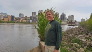 Douwe Van der Zee on the Mississippi River in St. Paul, Minnesota